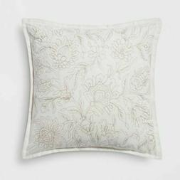 THRESHOLD Embroidered Floral Throw Pillow | Neutral | SQUARE