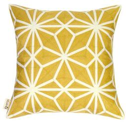 Plain Jane Cotton Embroidery Decorative Throw Pillow Covers