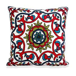 embroidery throw pillow case decorative