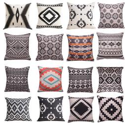 Ethnic Throw Pillow Cover Geometric Decorative Pillow Cases