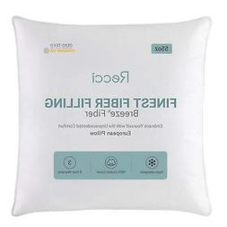 "Recci 26"" X 26"" Euro Pillow-Plush Breeze Fiber Throw Pillow,"