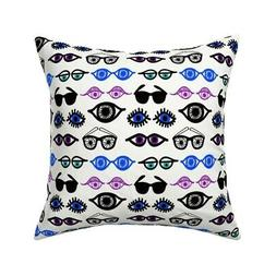 Eyes Peepers Sunglasses Cool Throw Pillow Cover w Optional I
