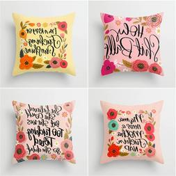 Factory direct polyester garland letter printing pillowcase