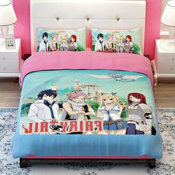 MeMoreCool Fairy Tail Anime Bedding Sets Kids Clubhouse Supe