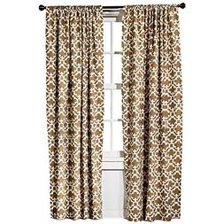 Threshold Farrah Fretwork Brown & Cream Curtain Panel