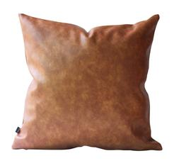 Kdays Faux Leather Tan Brown Pillow Cover Decorative Throw P