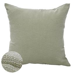 Deconovo Faux Linen Cushion Cover Pillow Case with Invisible