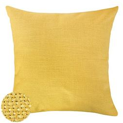 faux linen look throw cushion