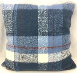 Threshold Faux Mohair Plaid Oversize Square Throw Pillow Blu