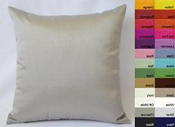 Creative Faux Silk Solid Euro Sham / Pillow Cover 26 by 26 S