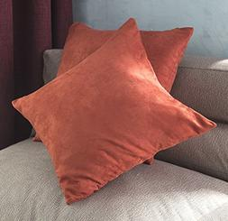 BEST DREAMCITY Faux Suede Cushion Covers