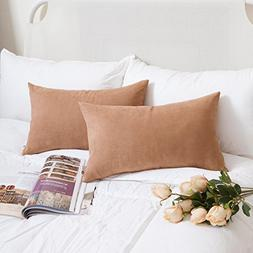 Kevin Textile Faux Suede Cushion Covers Throw Pillow Cases w