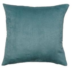 DreamHome 26 X 26 Inches Aqua Color Faux Suede Decorative Eu