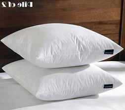 Basic Home 20x20 Feather & Down Pillow Insert, 100% Cotton F