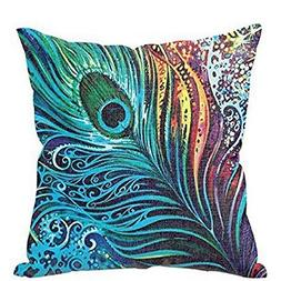 XUANOU Beautiful Feather Sofa Bed Home Decor Pillow Case Cus