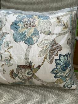 "Pillow Perfect Finders Keepers Cotton Throw Pillow 16.5"" Blu"