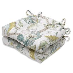 Pillow Perfect Finders Keepers Peacock Reversible Chair Pad,