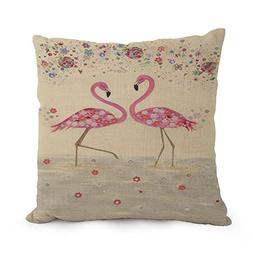 Beautifulseason Flamingo Pillow Covers 18 X 18 Inches / 45 B
