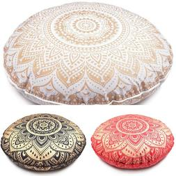 Floor Cushion Cover Mandala Throw Pillow Indian Bohemian Rou
