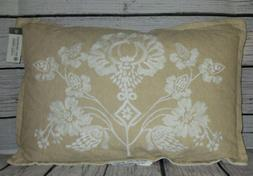 "Threshold Floral Lumbar Throw Pillow 18"" X 12"" NEW WITH TAGS"