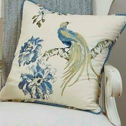 """Floral Engagement 18"""" Square Embroidered Decorative Pillow"""