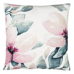 Eightmood Floral Throw Pillow, Petalia Print, 100% Cotton, D