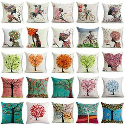 floral tree pattern home waist cushion cover