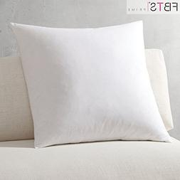 Foam Throw Pillow Insert 18x18 inch,White- 100% Polyester