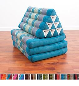 Leewadee Foldout Triangle Thai Cushion, 67x21x3 inches, Kapo