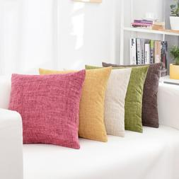 <font><b>Solid</b></font> Sofa waist Cushion Cover <font><b>
