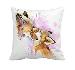 4TH Emotion Fox and Its Mother Home Decor Throw Pillow Cover