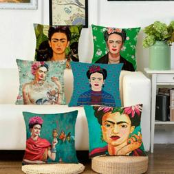 Frida Kahlo Cotton Linen Throw Pillow Case Throw Cushion Cov