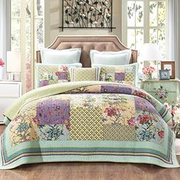 DaDa Bedding Frosted Pastel Gardenia Bohemian Reversible Cot