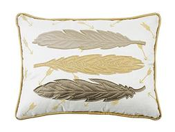 """Comfy Hour 18""""x13"""" Gentle Spirit Feather Accent Pillow Throw"""