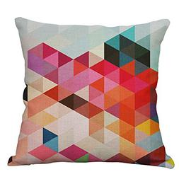 YeeJu Geometric Decorative Throw Pillow Covers Square Cotton