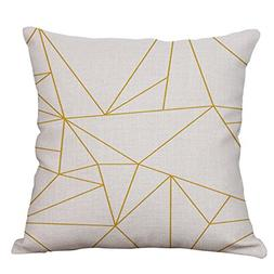 YeeJu Geometric Decorative Throw Pillow Covers Cotton Linen