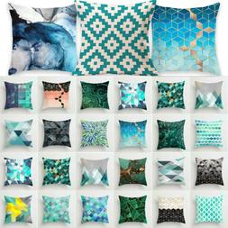 Geometric Pattern Square Throw Pillow Case Waist Cushion Cov