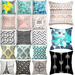Geometric Pattern Throw Pillow Case Modern Cushions Cover  B