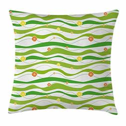 Geometric Throw Pillow Cushion Cover by Ambesonne, Colorful
