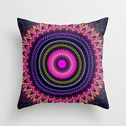 18 X 18 Inches / 45 By 45 Cm Geometry Throw Cushion Covers T