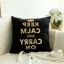 gold stamping soft soild decorative square throw
