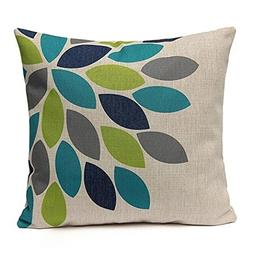 Gotd Flower Decorative Square Throw Pillow Cover Cushion Cas