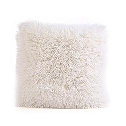 Gotd 16x16 Plush Pillow Case Cover Faux Fur Soft and Comfy V