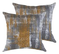 TreeWool Throw Pillow Cover Brush Art Accent Pure Cotton Dec