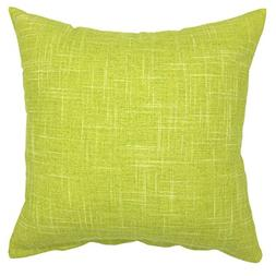 YOUR SMILE Pure Green Square Decorative Throw Pillows Case C