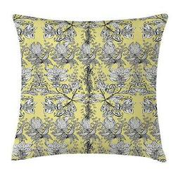 Grey and Yellow Throw Pillow Cases Cushion Covers Home Decor