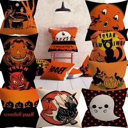 Halloween Pumpkin Throw Pillow Cover Pillowcases Decorative