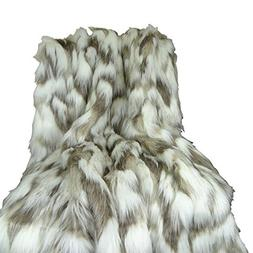 Thomas Collection luxury faux fur throw blanket, faux fur be