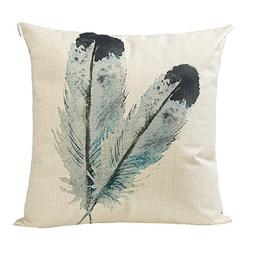 Anickal Boho Style Decorative Throw Pillow Covers with Blue