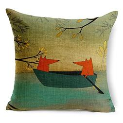 HomeChoice Heavy Cotton Linen Throw Pillow Cover 18 By 18 In
